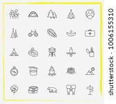camping line icon set... | Shutterstock .eps vector #1006155310