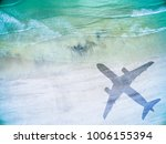 aerial view of lonely beach... | Shutterstock . vector #1006155394