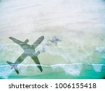 aerial view of lonely beach... | Shutterstock . vector #1006155418