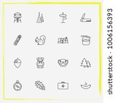 camping line icon set backpack  ... | Shutterstock .eps vector #1006156393