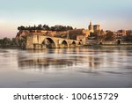 The City Of Avignon At Sunset