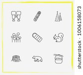 camping line icon set log ... | Shutterstock .eps vector #1006158073