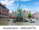 brabo fountain on market square ... | Shutterstock . vector #1006160776