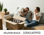 young tired couple feeling... | Shutterstock . vector #1006160950