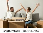 excited man and woman glad to... | Shutterstock . vector #1006160959