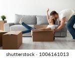 happy couple having fun... | Shutterstock . vector #1006161013