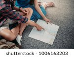 close up. young couple planning ... | Shutterstock . vector #1006163203