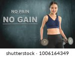 slim work out woman with...   Shutterstock . vector #1006164349