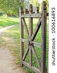 Vintage Wooden Rural Gate ...