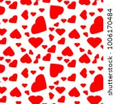 st. valentine day pattern red... | Shutterstock .eps vector #1006170484
