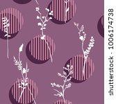 vector botanic silhouette... | Shutterstock .eps vector #1006174738