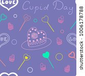 seamless pattern of cupid day... | Shutterstock .eps vector #1006178788