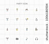 party colored icons   01 | Shutterstock .eps vector #1006180504