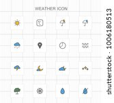 weather line icons   04 | Shutterstock .eps vector #1006180513