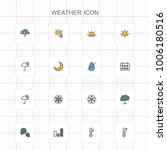 weather line icons   03 | Shutterstock .eps vector #1006180516
