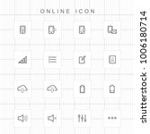 web and online icons | Shutterstock .eps vector #1006180714
