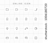 web and online icons   04 | Shutterstock .eps vector #1006180720
