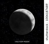 vector moon with shadow on... | Shutterstock .eps vector #1006187689