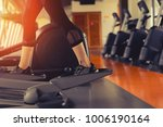 exercise elliptical cardio... | Shutterstock . vector #1006190164
