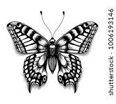 tattoo art butterfly for design ... | Shutterstock .eps vector #1006193146