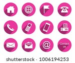 12 contact icons | Shutterstock .eps vector #1006194253