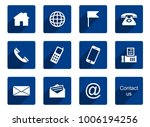 12 contact icons | Shutterstock .eps vector #1006194256