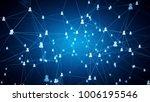 concept of social network ... | Shutterstock . vector #1006195546