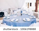 beautiful wedding table setting ... | Shutterstock . vector #1006198888
