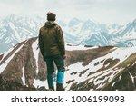 climber man reached mountain...   Shutterstock . vector #1006199098