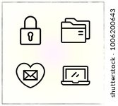 valentine's day line icons set... | Shutterstock .eps vector #1006200643