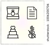 valentine's day line icons set... | Shutterstock .eps vector #1006200706