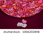 happy valentines day greeting... | Shutterstock .eps vector #1006202848