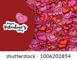happy valentines day greeting... | Shutterstock .eps vector #1006202854