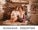 the happy couple in a photo... | Shutterstock . vector #1006207660