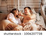the happy couple in a photo... | Shutterstock . vector #1006207738