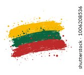 lithuania brush strokes flag | Shutterstock .eps vector #1006208536