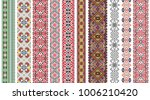 folk art knitted embroidered... | Shutterstock .eps vector #1006210420