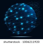 global network connection.... | Shutterstock .eps vector #1006211920