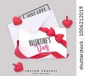 valentine envelope and gift... | Shutterstock .eps vector #1006212019