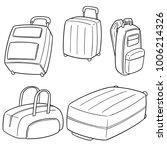 vector set of suitcase | Shutterstock .eps vector #1006214326