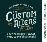 originally handmade alphabet.... | Shutterstock .eps vector #1006216033