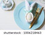easter festive table. guest...   Shutterstock . vector #1006218463