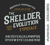 originally handcrafted alphabet.... | Shutterstock .eps vector #1006218856