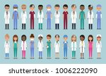 doctors  nurses and surgeons... | Shutterstock .eps vector #1006222090