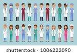 doctors  nurses and surgeons... | Shutterstock .eps vector #1006222090