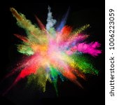 colored powder explosion on... | Shutterstock . vector #1006223059
