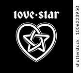 love star vector logo. white... | Shutterstock .eps vector #1006223950