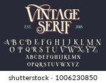 vintage serif lettering font.... | Shutterstock .eps vector #1006230850