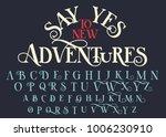 vintage serif lettering font.... | Shutterstock .eps vector #1006230910