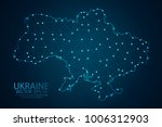 abstract mash line and point... | Shutterstock .eps vector #1006312903